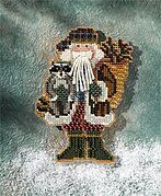 Blue Ridge Santa - Appalachian Santas - Beaded Cross Stitch