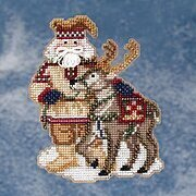 Lapland Santa - Arctic Circle Santas Beaded Cross Stitch Kit