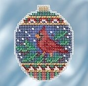 Crimson Cardinal - Beaded Cross Stitch Kit