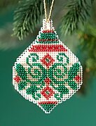 Emerald Flourish - Beaded Cross Stitch Kit