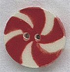 Large Peppermint Candy Button
