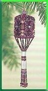 Plum Tassel Ornament Cross Stitch Kit