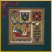 Holiday Greetings - Beaded Cross Stitch Kit