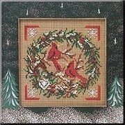 Cardinal Wreath - Beaded Cross Stitch Kit