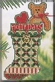 Holly Days Stocking - Beaded Cross Stitch Kit