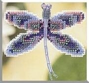 Sapphire Dragonfly - Beaded Cross Stitch Kit