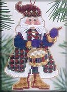 Drum Santa - Beaded Cross Stitch Kit