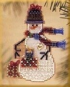 Gift Snow Charmer - Beaded Cross Stitch Kit