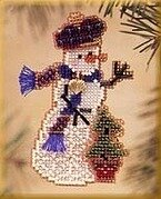 Holiday Tree Snow Charmer - Beaded Cross Stitch Kit