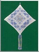 Ice Blue Snowflake 2000 - Beaded Cross Stitch Kit