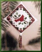 Holiday Cardinal - Beaded Cross Stitch Kit