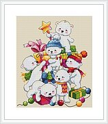 Christmas Bears - Cross Stitch Kit
