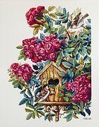 OVEN  628 Angel with a Basket of Roses  Cross Stitch Kit