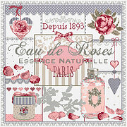 Eau de Rose (Water of the Rose) - Cross Stitch Pattern