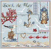 Bord de Mer (Seaside) - Cross Stitch Pattern