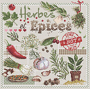 Herbes et Epices (Herbs and Spices) - Cross Stitch Pattern