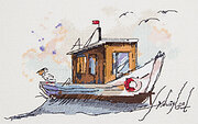 Fishing boat - Cross Stitch Kit