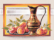 Still Life with Peaches - Cross Stitch Kit