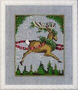 Blitzen - Christmas Eve Couriers - Cross Stitch Pattern