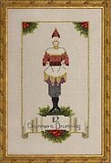 Twelve Drummers Drumming - 12 Days of Christmas Cross Stitch