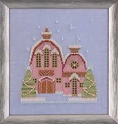 Little Snowy Pink Cottage - Cross Stitch Pattern