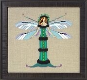 Miss Dragonfly - Intriguing Insects - Cross Stitch Pattern