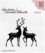 Deer Silhouette - Nellie's Choice Clear Stamp