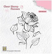 Rose - Nellie's Choice Clear Stamp