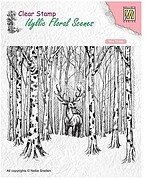 Deer in Forest - Nellie's Choice Clear Stamp