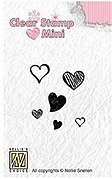 Minis Hearts - Nellie's Choice Clear Stamp