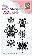 Snowflakes - Nellie's Choice Clear Stamp