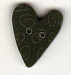 Just Another Button Company Medium Green Nancy/'s Heart