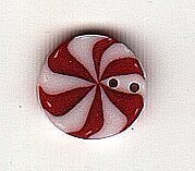 Small Peppermint Swirl - Button