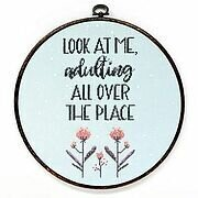 Adulting All Over - Cross Stitch Pattern