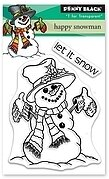 Happy Snowman - Penny Black Clear Stamp