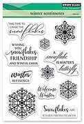 Winter Sentiments - Penny Black Christmas Clear Stamp