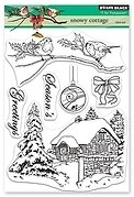 Snowy Cottage - Christmas Clear Stamp