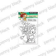 Flower Teddy - Penny Black Clear Stamp