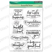 Beautiful Heart - Penny Black Clear Stamp