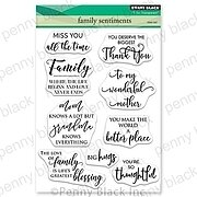 Family Sentiments - Penny Black Clear Stamp