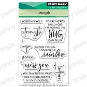 Strength Mini - Penny Black Clear Stamp