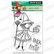 Sweet Witch - Halloween Penny Black Clear Stamp