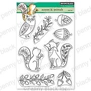 Acorns and Animals - Penny Black Clear Stamp