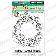 Golden Delight Wreath - Penny Black Clear Stamp