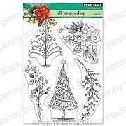 All Wrapped Up - Christmas Penny Black Clear Stamp