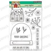 Cozy Nights - Christmas Penny Black Clear Stamp