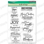 Thrill of Hope - Christmas Penny Black Clear Stamp