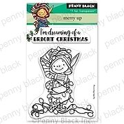 Beaming Mini - Christmas Penny Black Clear Stamp