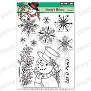 Frosty's Flakes - Christmas Penny Black Clear Stamp