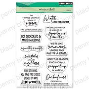 Winter Chill - Christmas Penny Black Clear Stamp